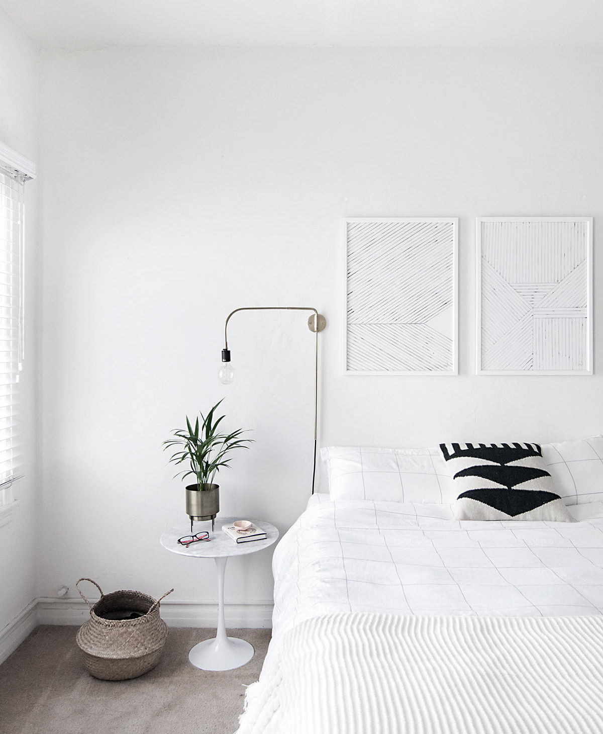 How to Achieve a Minimal Scandinavian Bedroom - Homey Oh My on Bedroom Minimalist Ideas  id=43872