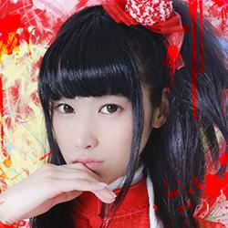 Kisaragi Megumi of Japanese yami-kawaii idolcore group Zenbu Kimi no Sei Da
