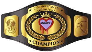 Digital badge of the championship belt awarded to the winner of the 2016 Homicidols Corenament