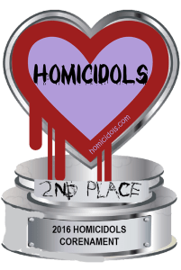Digital badge of the second place trophy awarded to the runner up of the 2016 Homicidols Corenament