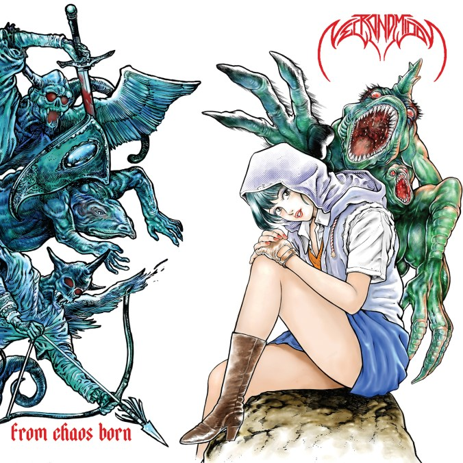 """Cover of Japanese black metal idol dark wave group Necromidol's EP """"From Chaos Born"""""""