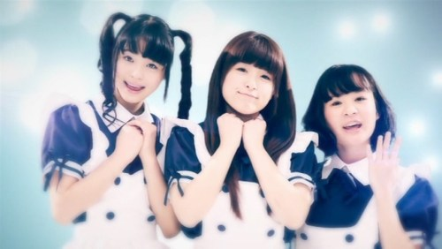 "Screen capture from Japanese idolcore legends BiS's idol parody video ""idol"""