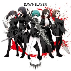 Cover art for the Dawn version of Necronomidol's DAWNSLAYER single