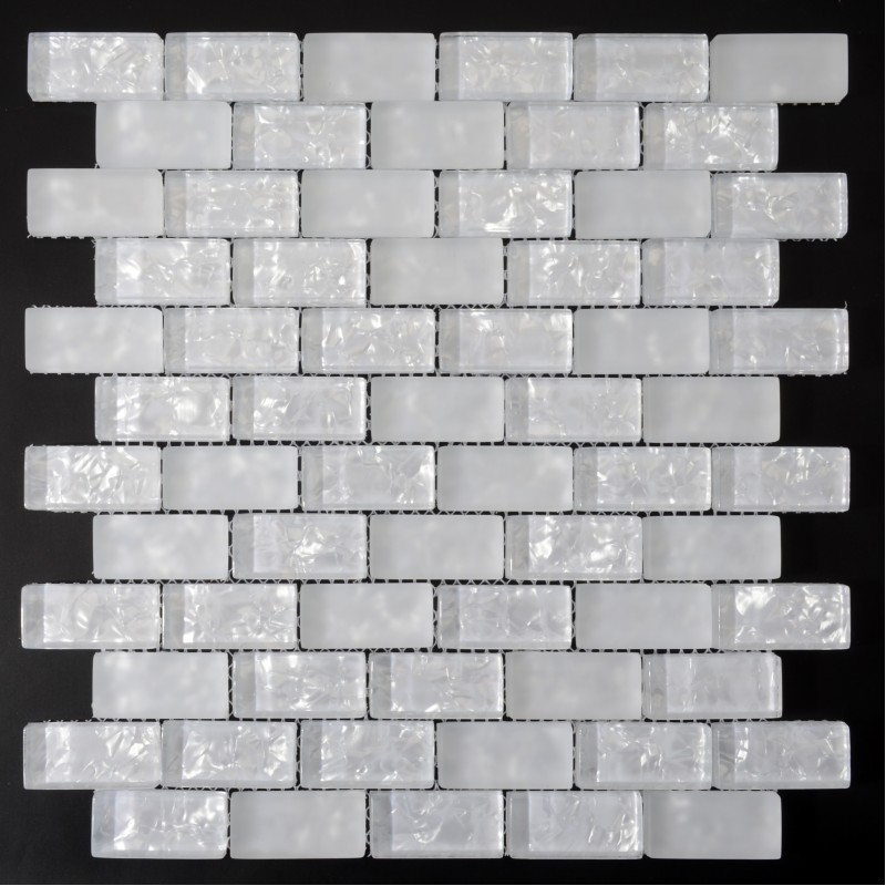 wall tile crackle glass mosaic