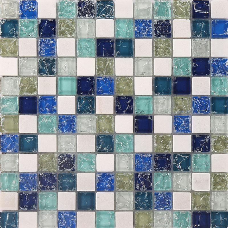 stone and glass mosaic sheets blue square tiles ceram marble tile backsplash kitchen wall tile k8840b