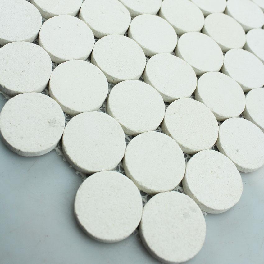stone mosaic tile circle pattern washroom wall penny round marble tile backsplash kitchen tiles sgs2012 2