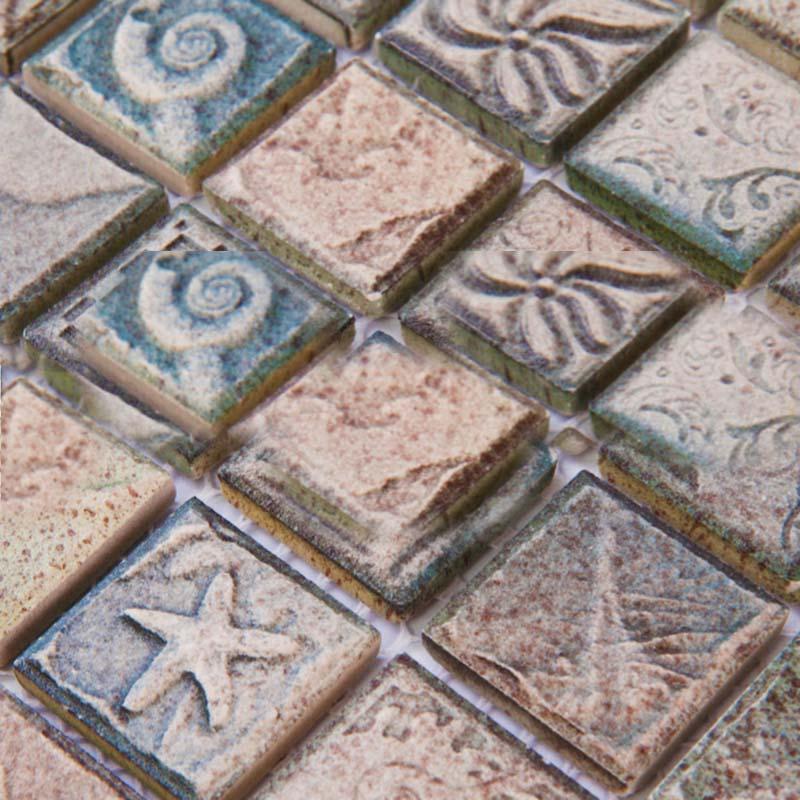 wholesales glazed porcelain tile backsplash kitchen bathroom wall stickers ceramic mosaic floor tiles yf mca34 1