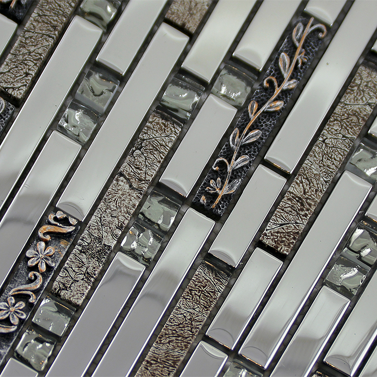 glass mosaic tiles crystal diamond tile bathroom wall strip stickers kitchen backsplash