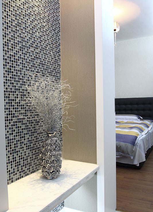 Black Glass Mosaic Diamond Gray Marble Plated Silver Amp Blue Tile