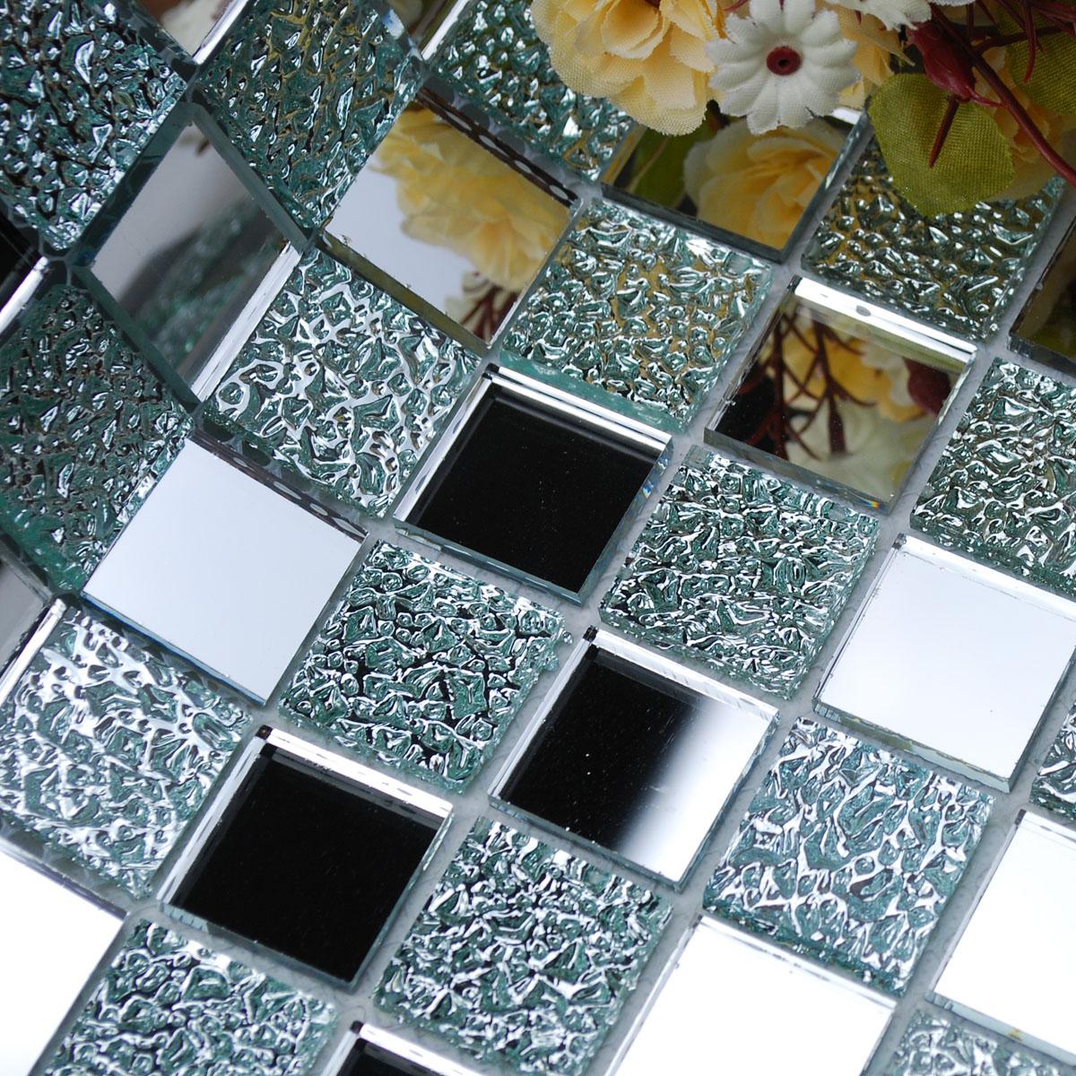wholesale mirror tile squares blue bathroom mirrored wall tile backsplash 1 inch glass mosaic tiles decorative