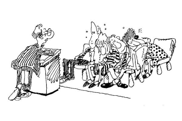 speaker is boring