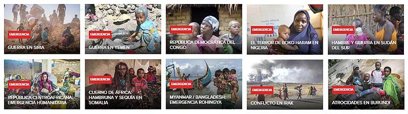 Emergencias ACNUR en el mundo