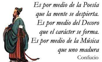 Confucio sobre la música