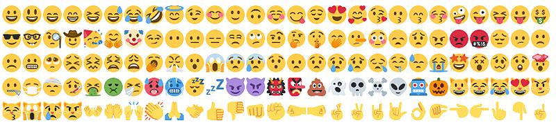 Emojis e iconos Instagram