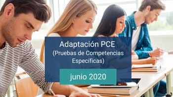 PCE Pruebas de Competencias Especificas España