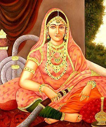 Mujeres fumando cachimba India