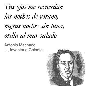 Frases poemas de amor Antonio Machado