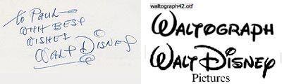 Tipografía Logo Walt Disney