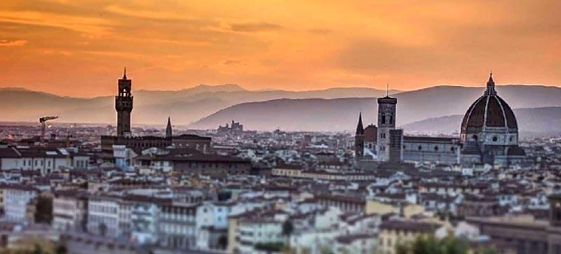 Vistas de Florencia desde Plaza Michelangelo