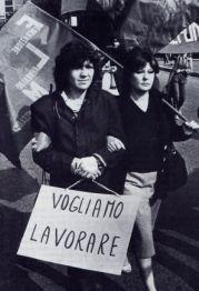 Proteste di cassintegrate della Telefunken e dell'Alfa Romeo a Milano