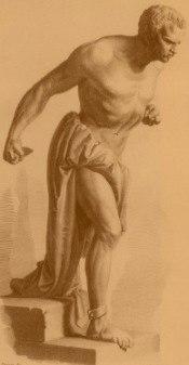 Incisione che rappresenta Spartaco, dalla statua di Vincenzo Vela