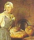 Chardin, Ritorno dal mercato (part. del pane)