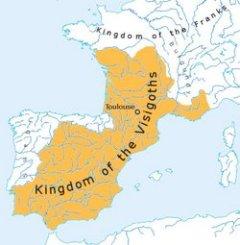 Il regno dei Visigoti alla fine del V secolo