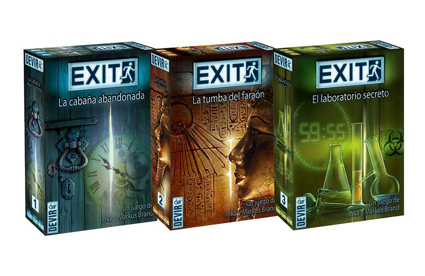 Serie Exit juegos de mesa Escape Room