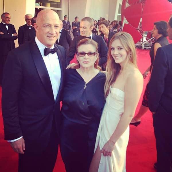 Bryan Lourd, Carrie Fisher y su hija Billie Lourd