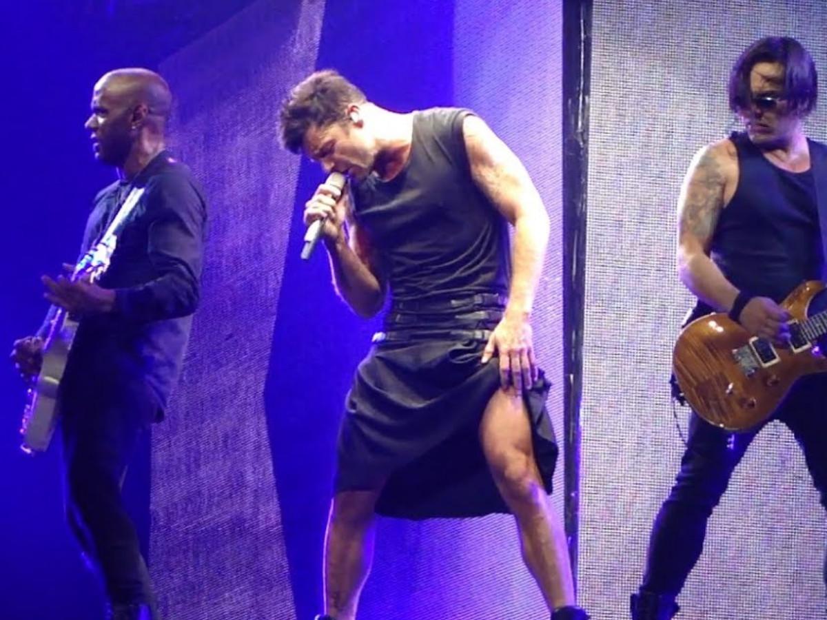 hombre falda