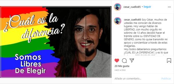 Campaña de César en Instagram
