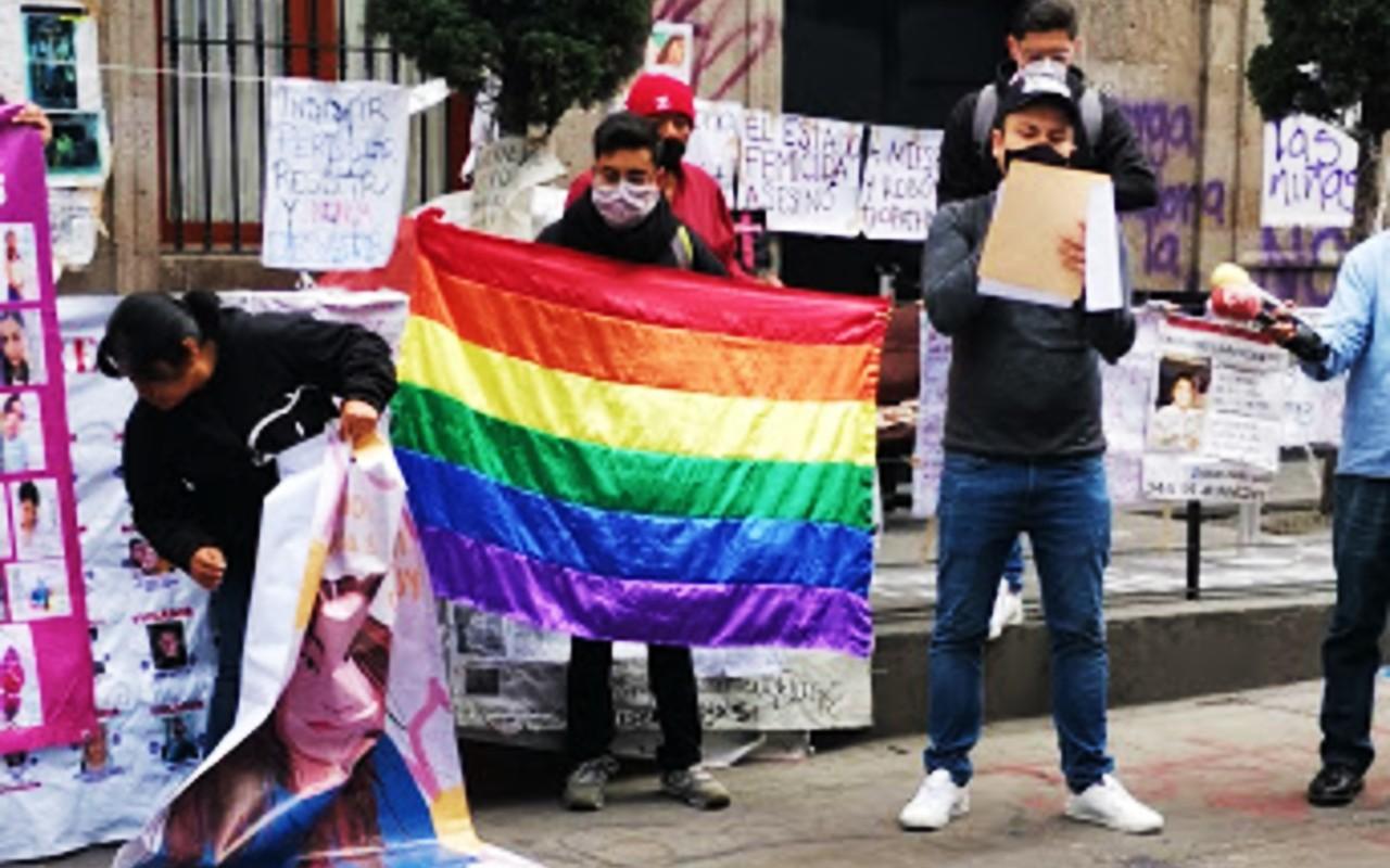 Activistas LGBT+ tomaron las instalaciones de la CNDH