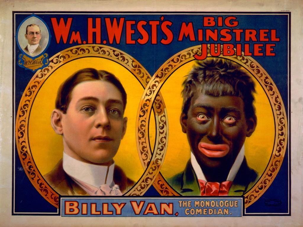 Cartel de un show con blackface