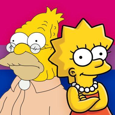 Lisa y abuelo Simpson bisexuales