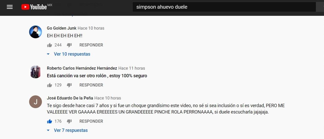Video Simpson Ahuevo