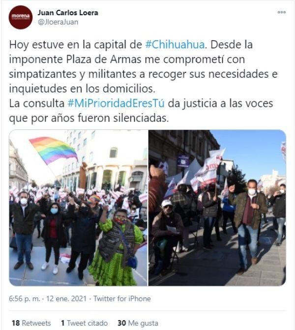 precandidato al gobierno de Chihuahua Juan Carlos Loera