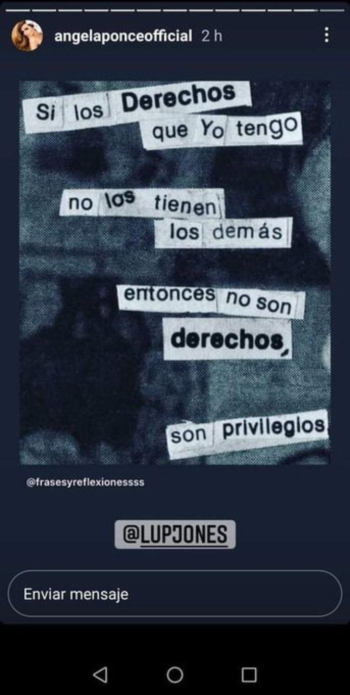 angela ponce instagram derechos privilegios diferencia