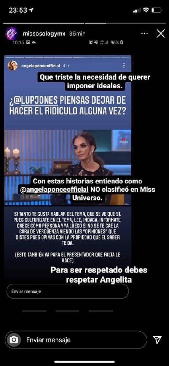 Lupita Jones Ángela ponce criticas detractores