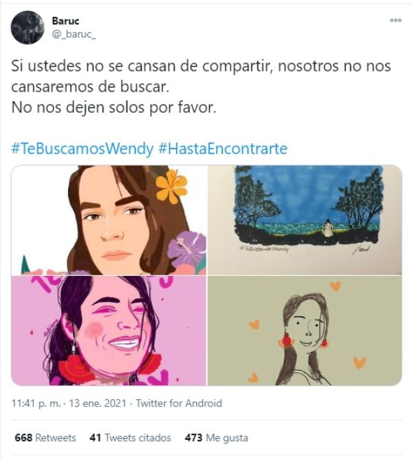 Búsqueda Wendy Sánchez