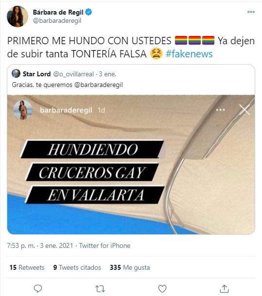 memes homofóbicos de Bárbara de Regil