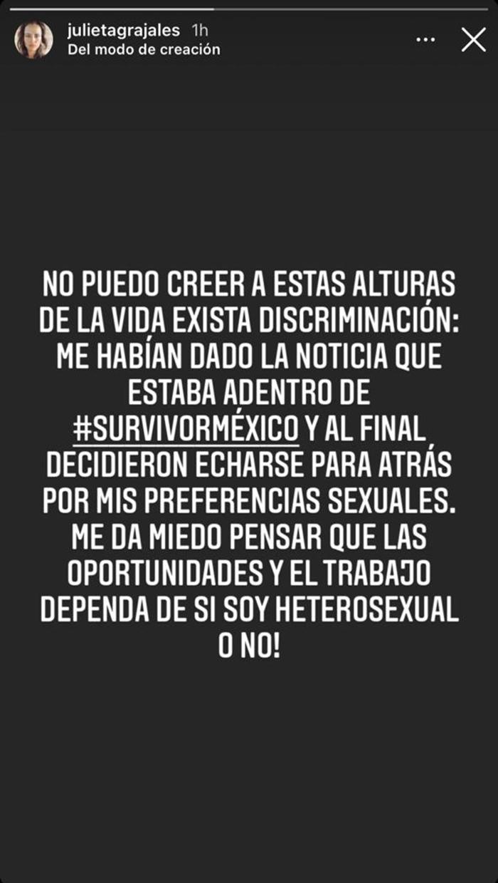 julieta grajales actriz discriminación survivor méxico