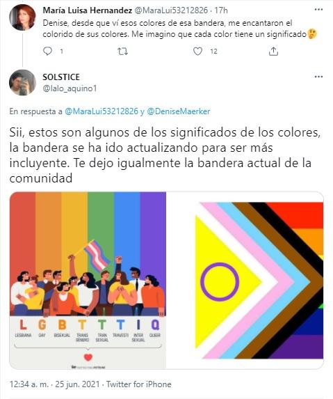 Denise Maerker muestra bandera LGBT+ en televisión