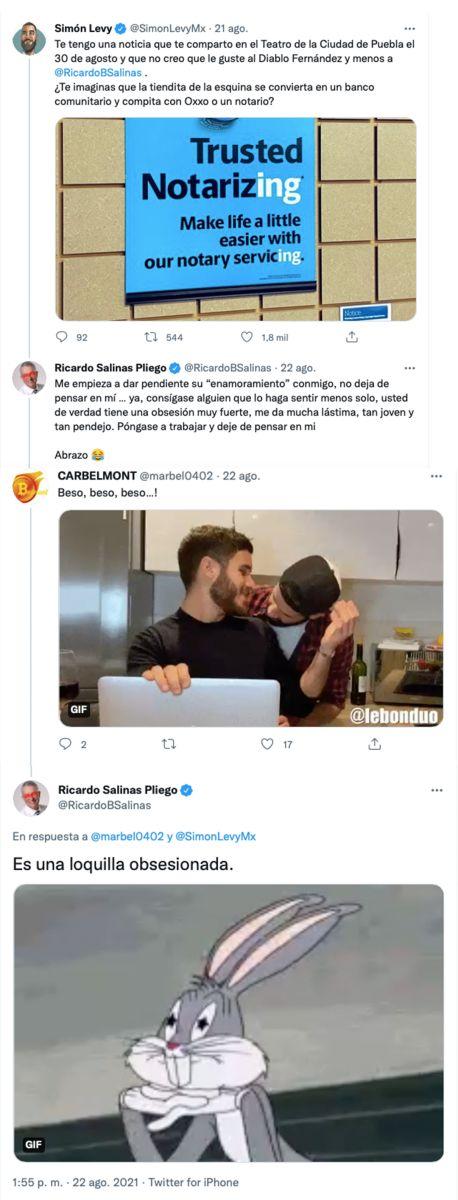 loquilla obsesionada Ricardo Salinas Pliego Simón Levy