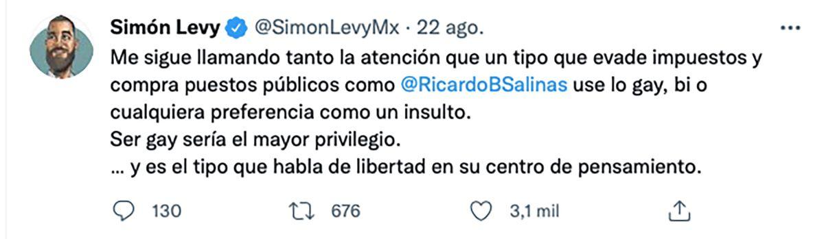 Simón Levy Salinas Pliego Twitter