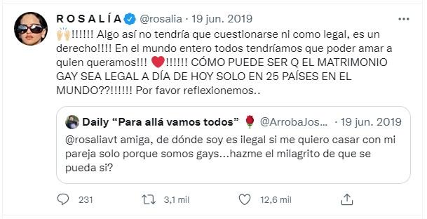 Rosalía es aliada LGBT+