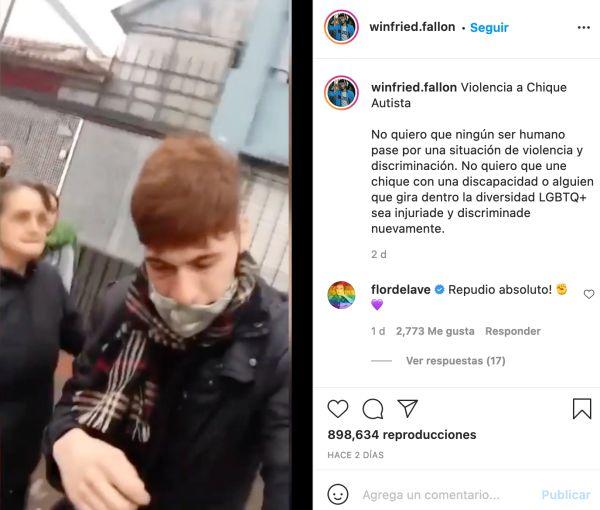 agreden vecinos winfried fallon persona no binaria autismo la plata instagram video
