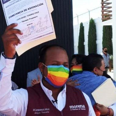 Luis Ángel Tenorio Cruz, diputado LGBT+ de Hidalgo