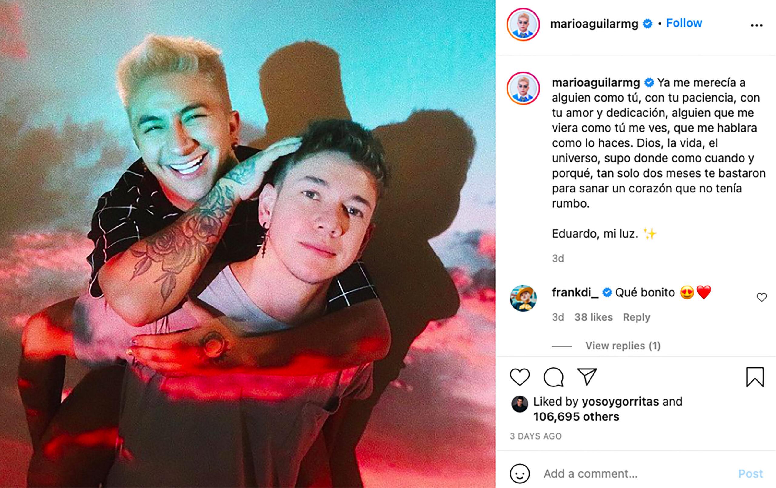 Mario Aguilar y su novio