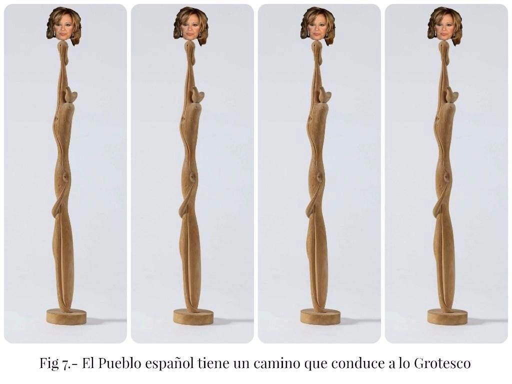 El Pueblo español tiene un camino que conduce a lo Grotesco