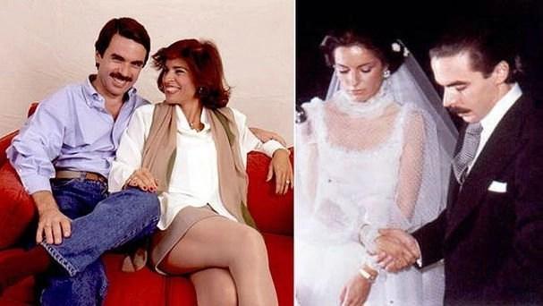 Ana Botella y José María Aznar, boda